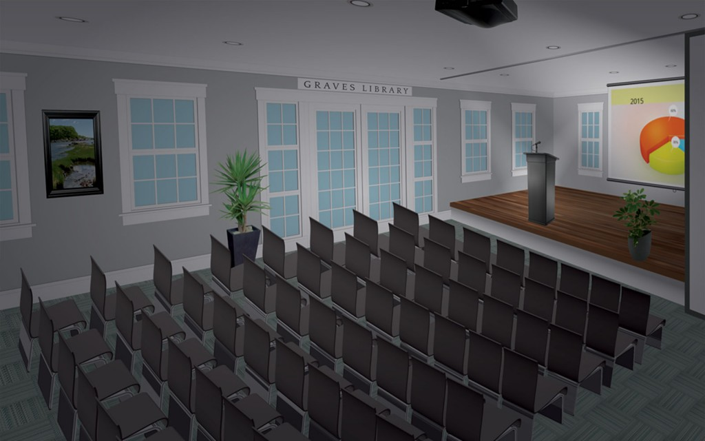 Graves Library Presentation Rendering