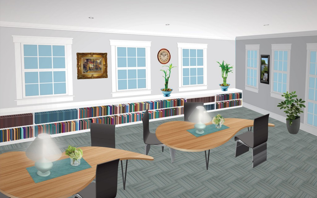 Graves Library Reading Room Rendering