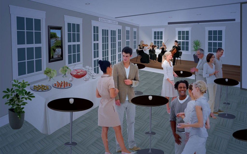Graves Library Event Room Rendering
