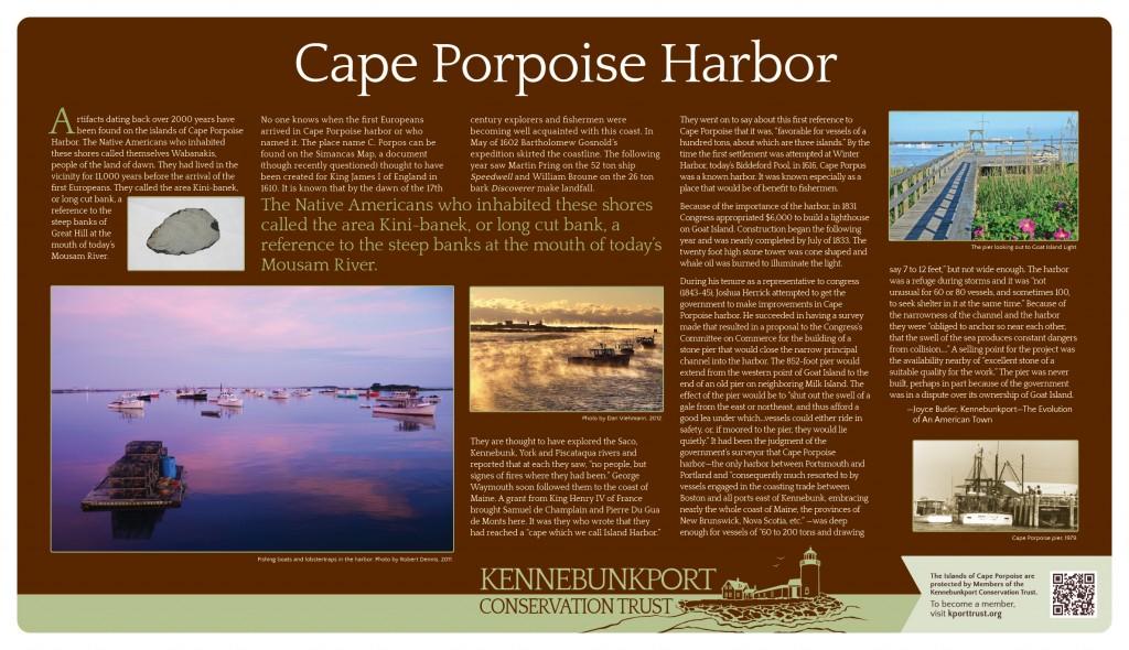 Cape Porpoise Harbor Sign